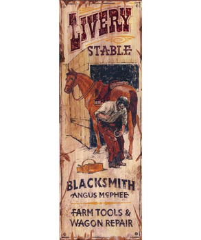 Custom Livery Stable Vintage Style Wooden Sign