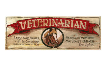 Custom Veterinarian Vintage Style Wooden Sign