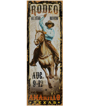 Custom Amarillo All Star Rodeo Vintage Style Wooden Sign