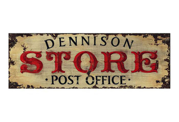 Custom Dennison Store Post Office Vintage Style Wooden Sign