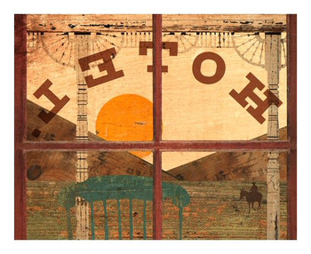 Custom Western Hotel Vintage Style Wooden Sign
