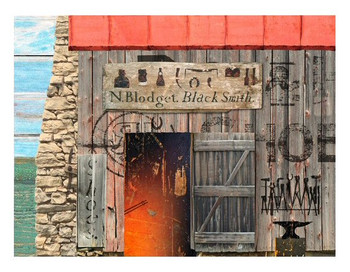 Custom Blacksmith Vintage Style Wooden Sign