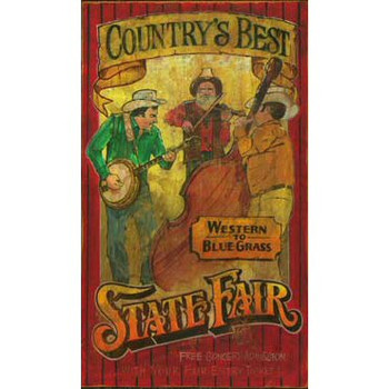 Custom Countrys Best State Fair Vintage Style Wooden Sign