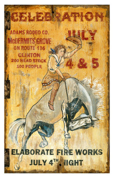 Custom Celebration Adams Rodeo Co. Vintage Style Wooden Sign