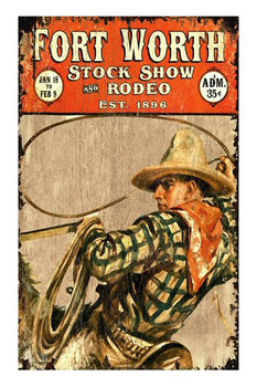 Custom Fort Worth Stock Show & Rodeo Vintage Style Wooden Sign