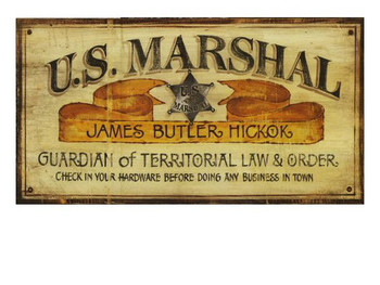 Custom US Marshall Vintage Style Wooden Sign
