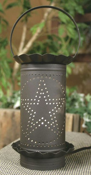 Rustic Brown Large Punched Star Electric Wax Potpourri Warmer