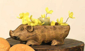 Treen Reproduction Small Pig Bowl