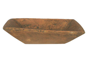 Treen Reproduction Large Square Trencher Bowl