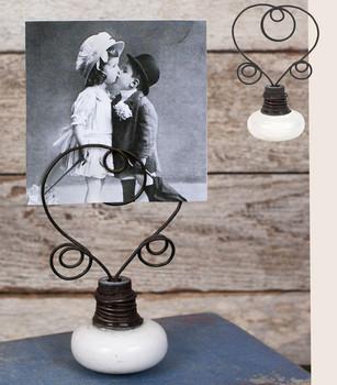 Rustic Brown Vintage Doorknob Photo Frames, Set of 2