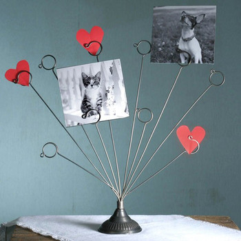 Fanned Wire Photo Holder, Set of 2