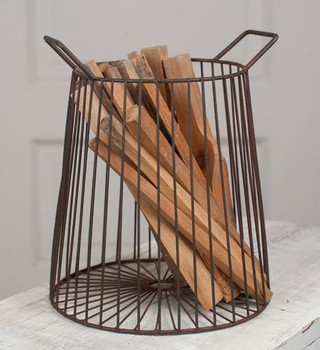 Green Rust Farmhouse Wire Basket