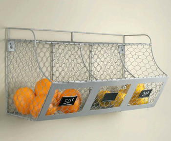 Chicken Wire Multi Wall Rack Bin
