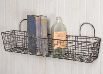 French Bakery Wire Wall Baskets, Set of 2