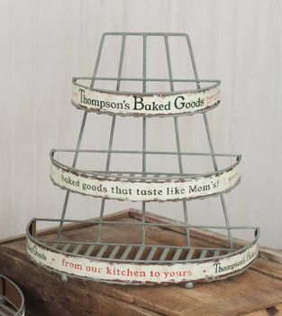Barn Roof Small Thompson's Baked Goods Metal Rack