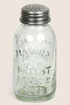 Mini Mason Jar Salt or Pepper Shakers, Set of 6