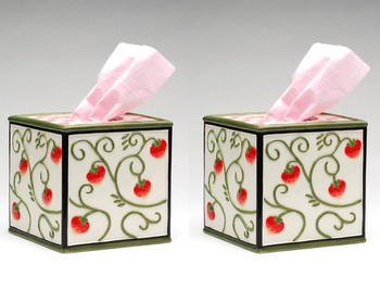 Strawberry Tissue Box Holder, Set of 2