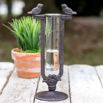 Two Birds Tabletop Rain Gauge