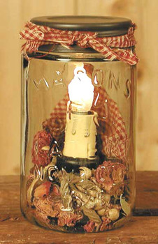 Pint Mason Jar Electric Lamp