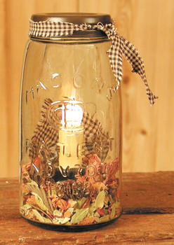 Quart Mason Jar Electric Lamp