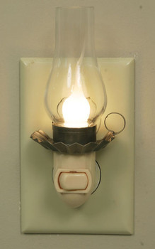Penn's Grove Glass and Metal Night Lights with Chimney, Set of 6