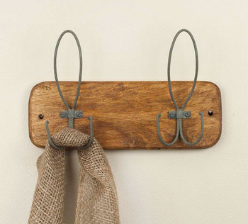 Barn Roof Forge and Forest Wall Hooks, Set of 2