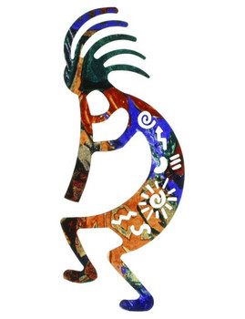 "12"" Story Kokopelli Metal Wall Art"