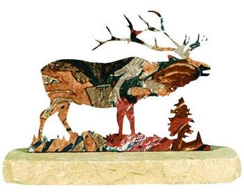 Elk Large Metal Rock Art
