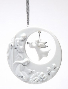 Holy Family Christmas Tree Ornaments, Set of 4