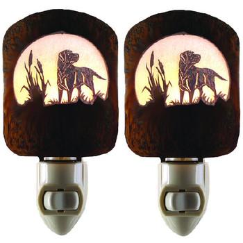 Retriever Dogs Metal Night Lights, Set of 2