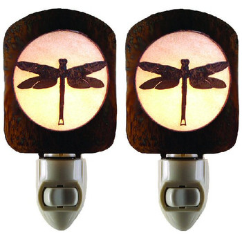 Dragonfly Metal Night Lights, Set of 2