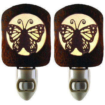 Butterfly Metal Night Lights, Set of 2