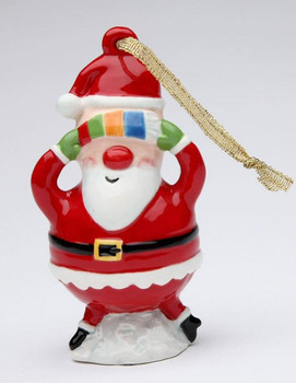 No Peeking Santa Christmas Tree Ornaments by Robin, Set of 4