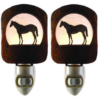 Horse Metal Night Lights, Set of 2