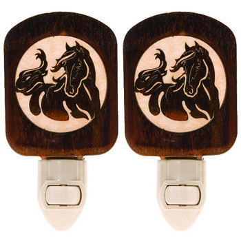 Windy Horse Metal Night Lights, Set of 2