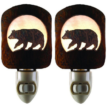 Bear Metal Night Lights, Set of 2