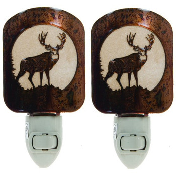 Mule Deer Metal Night Lights, Set of 2