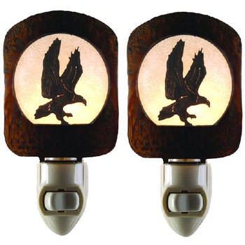 Eagle Bird Metal Night Lights, Set of 2