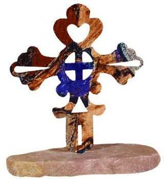 Friendship Cross Large Metal Rock Art