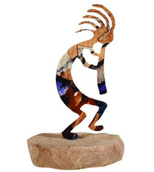 Kokopelli Large Metal Rock Art