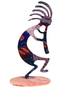 Kokopelli Extra Large Metal Rock Art