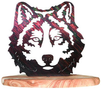 Wolf Face Large Metal Rock Art