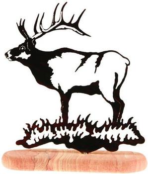 Bull Elk Large Metal Rock Art