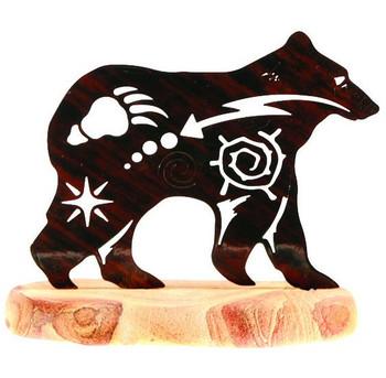 New Spirit Bear Extra Large Metal Rock Art