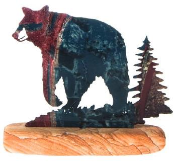 Black Bear Large Metal Rock Art