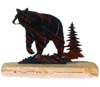 Black Bear Extra Large Metal Rock Art