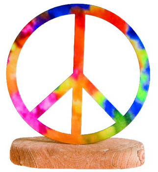 Peace Sign Large Metal Rock Art
