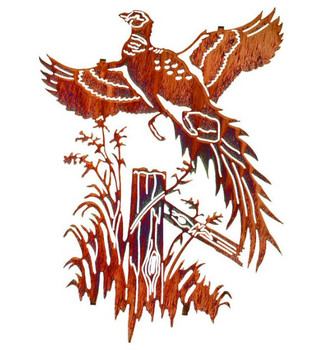 "20"" Ringneck Pheasant Bird Metal Wall Art by Neil Rose"