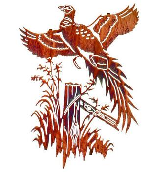 "20"" Ringneck Pheasant Bird Metal Wall Art by Neil Rose"