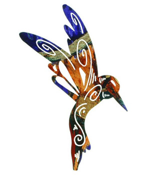 "12"" Magic Hummingbird Metal Wall Art by Robert Shields"